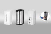Dispensadors automàtics de gel hidroalcohòlic.